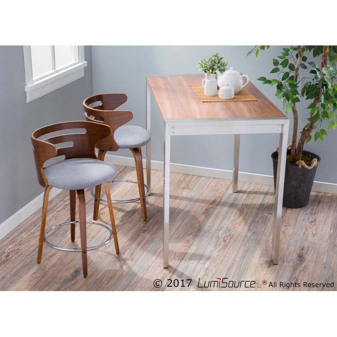 Modern bent acrylic coffee table Visby
