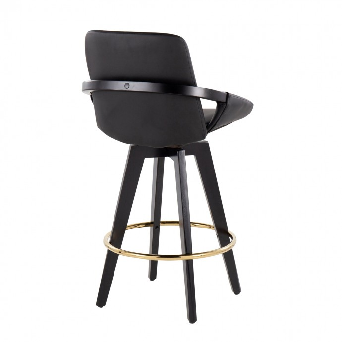 Modern plastic lounge chair with fabric cushion Lebus