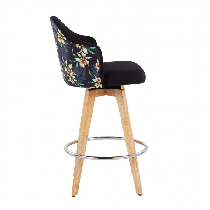 Modern square swivel top coffee table with storage Tamano