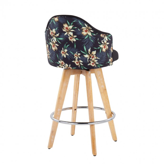 Contemporary white round glass top coffee table Mima