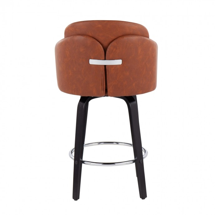 Modern chrome and glass nesting table Nimbus