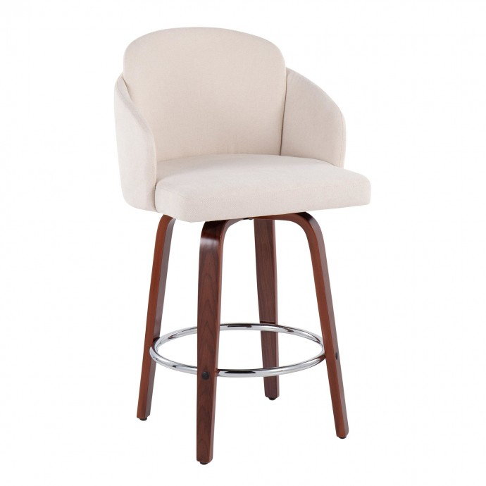 Modern clear bent acrylic side table Visby