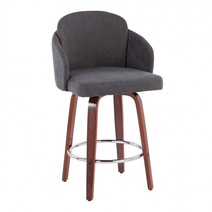 Modern walnut lounge chair Coop