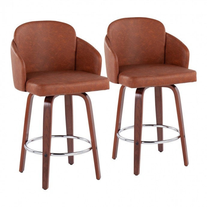 Modern black leather club chair Champ