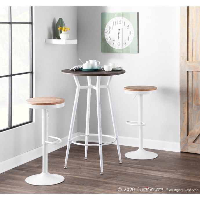 Modern Brown Leather Ottoman Jaco
