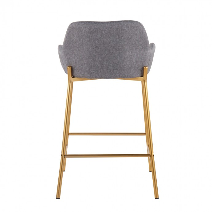 Modern White Leather Lounge Chair with Ottoman Libre
