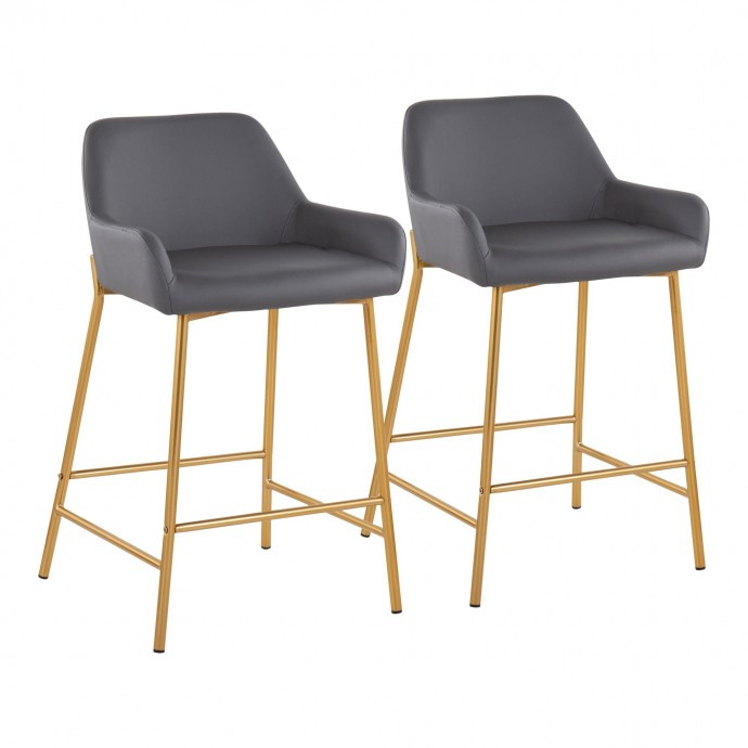 Modern Black Leather Lounge Chair with Ottoman Classico