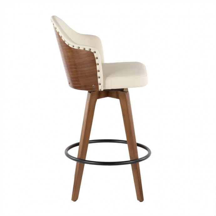 Modern Walnut and Glass Coffee Table Wind