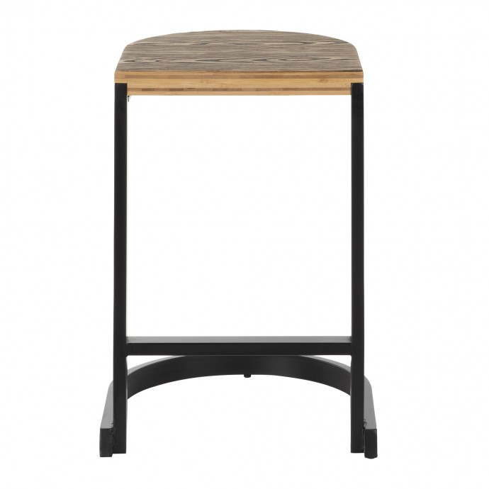 Industrial Brown Rustic Oval Coffee Table Samson