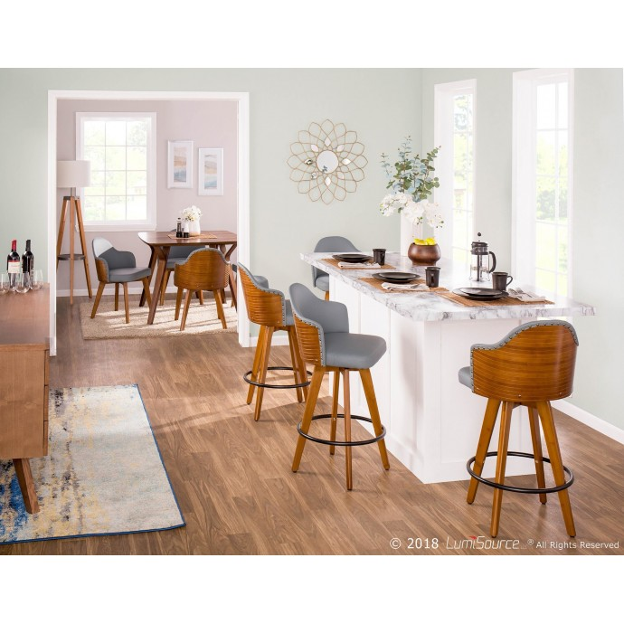 Modern Brown Leather Lounge Chair Tanto