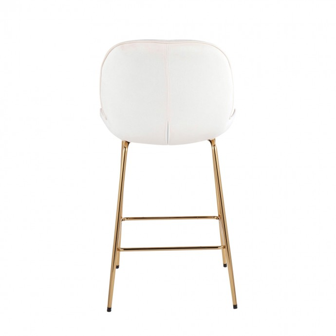 Modern Black Fabric Bar Stool Gibson