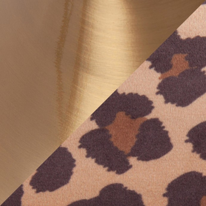 Modern Round Clear Glass Coffee Table Sign