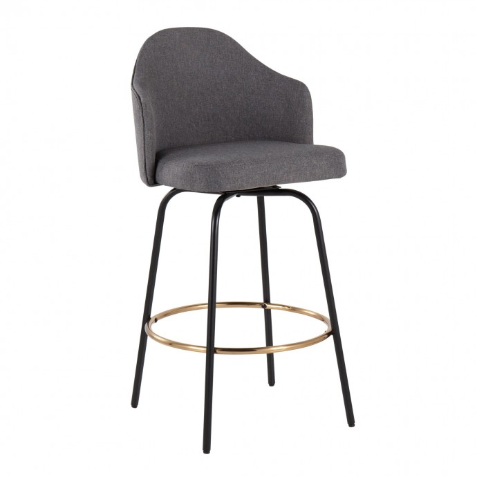 Modern White Leather Lounge Chair with Chromed Frame Mezzo