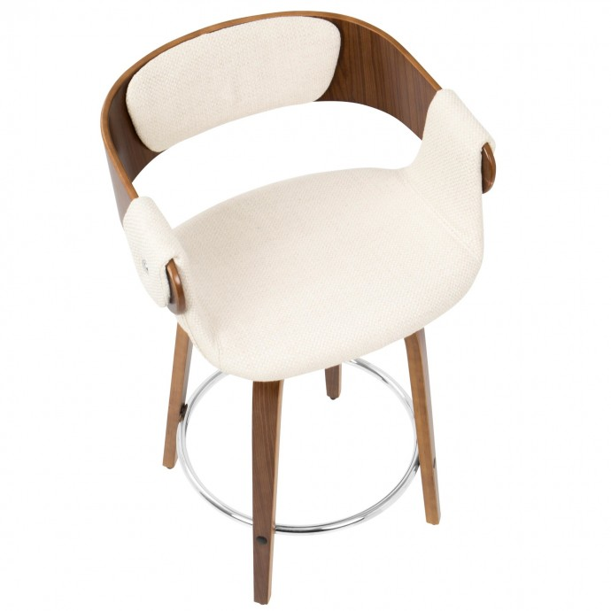 Modern Adjustable Bar Stool Oakwood