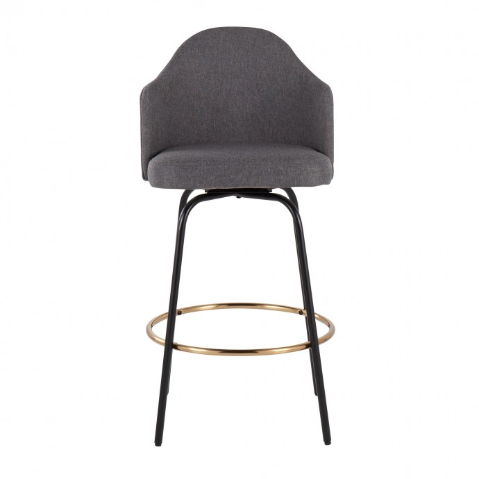 Modern brown leather lounge chair with chromed frame Chelsea