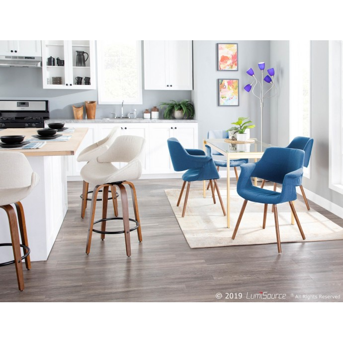 Modern Red Vinyl Adjustable Bar Stool Bergen
