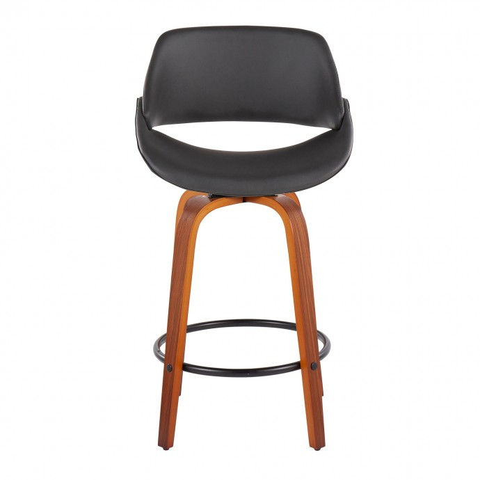 Modern Espresso Wicker Adjustable Bar Stool Bavaria