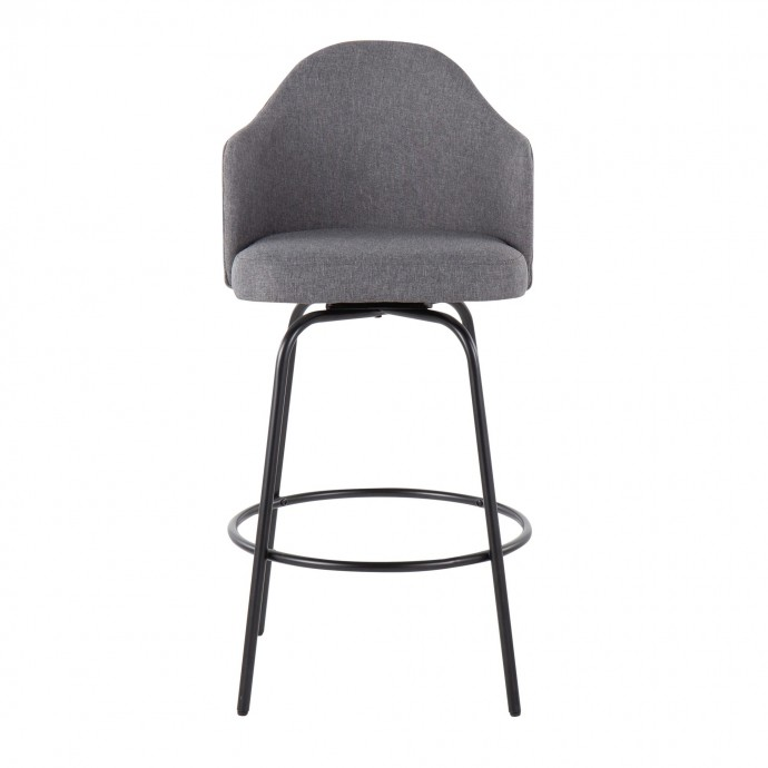 Modern Round Wenge Side Table with Swivel Glass Top and Storage Time