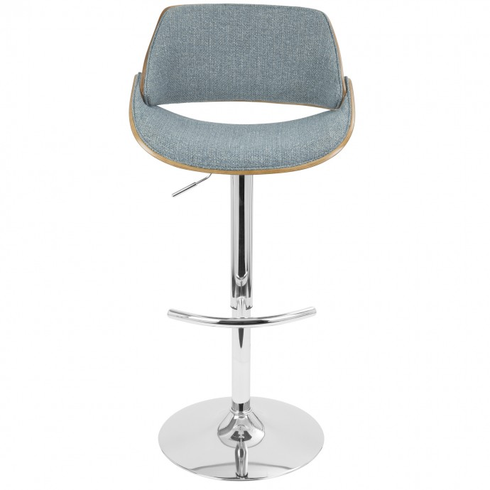 Modern Walnut Wood Adjustable Bar Stool Moss