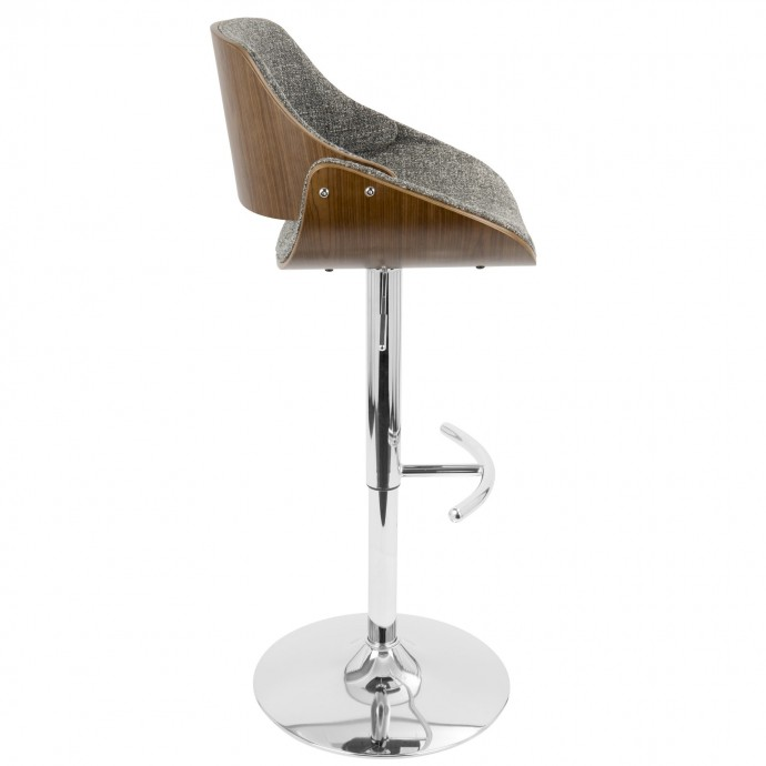 Modern Wood Adjustable Bar Stool Bergen