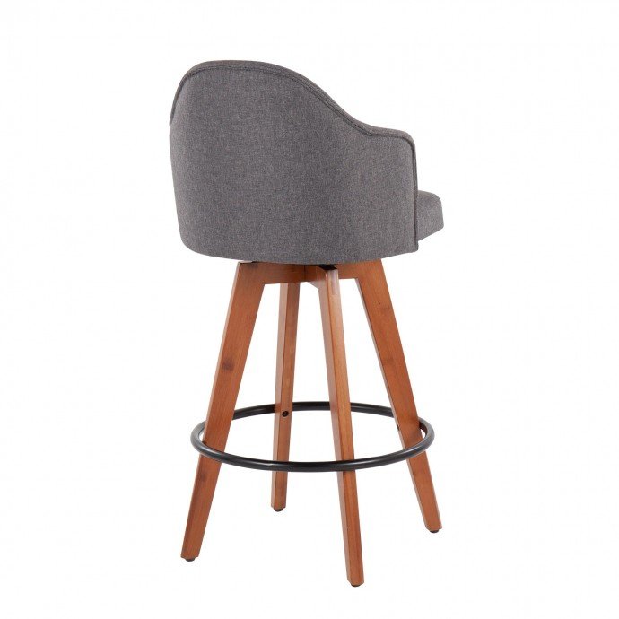 Modern Round White Swivel Coffee Table with Storage Shine