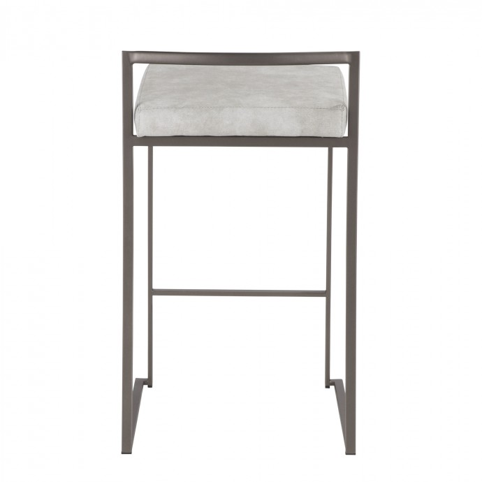 Modern white square floating coffee table Joel