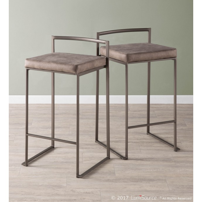 Modern chrome and glass swivel coffee table Ancona