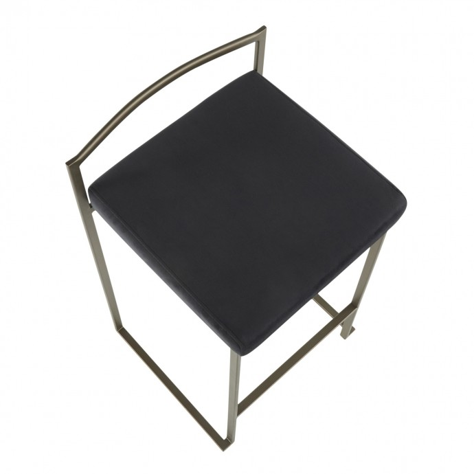 Modern white and black square coffee table with tray Vasto