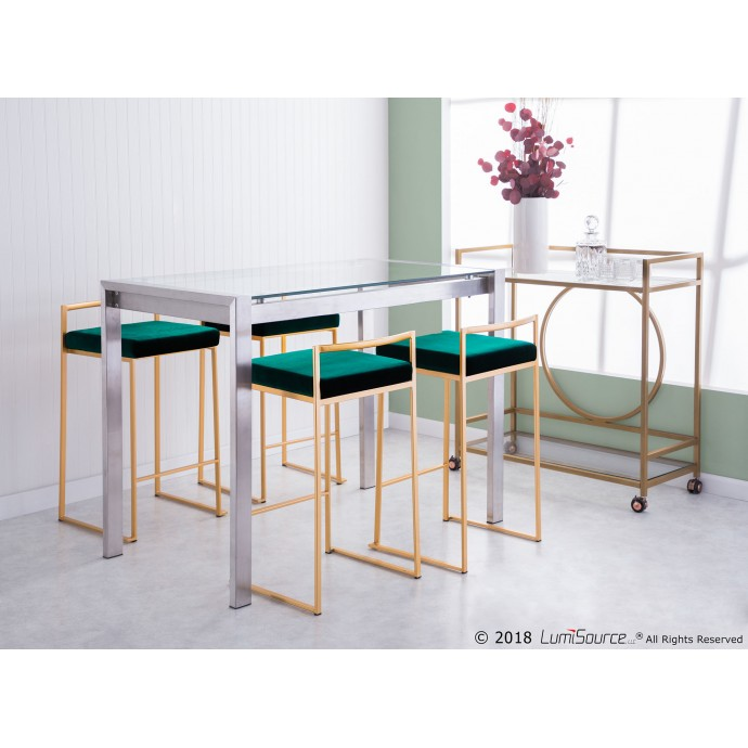 Modern Round Glass Side Table Goss