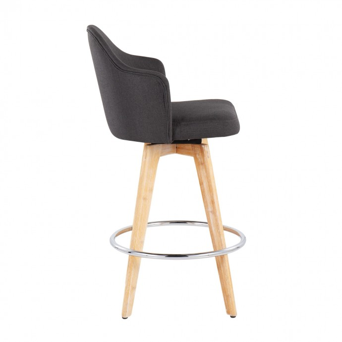 Modern glass end table Elsa