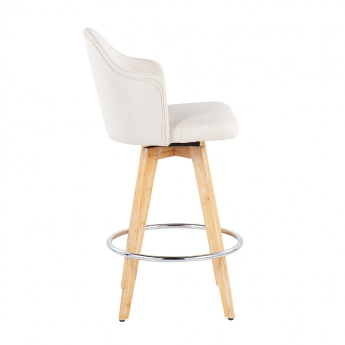 Modern round golden glass coffee table Champagne