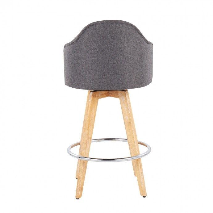 Modern Glass Rolling Side Table Mission