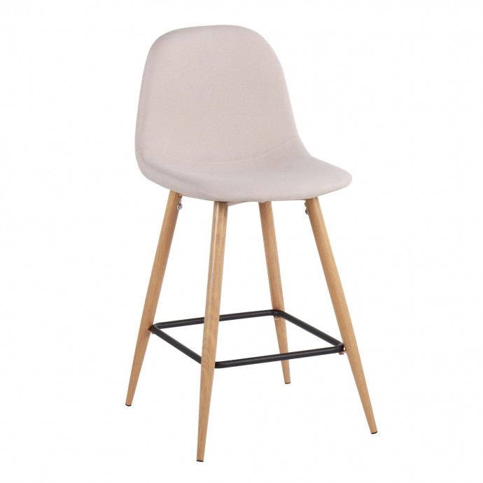Mid-century Modern Fabric Left-Facing Sectional Sofa Calvin