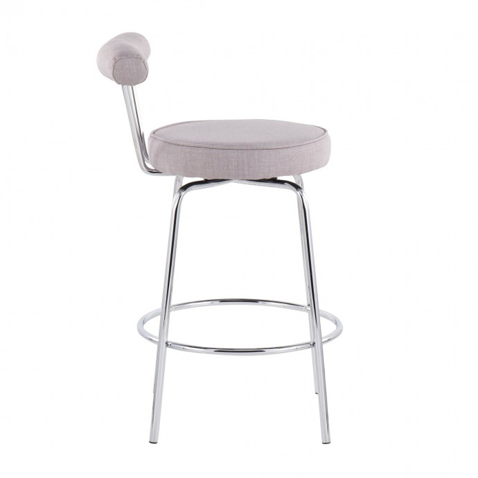 Mid-century Modern Fabric Left-Facing Sectional Sofa Imperial