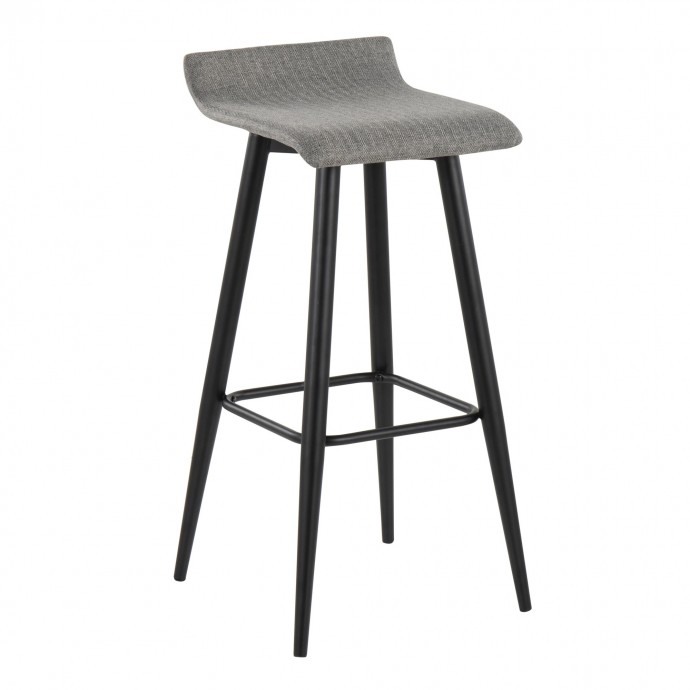 Modern black lounge chair Carbon
