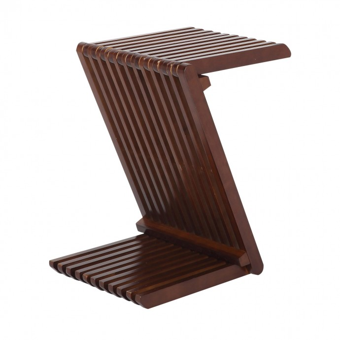 Contemporary Adjustable Bar Stool in Brown with Chrome Footrest Ale