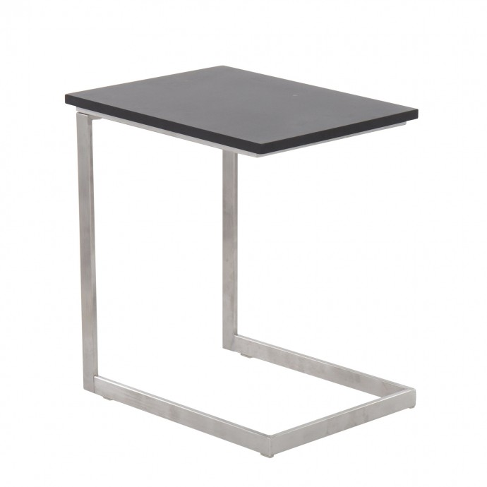 Mid-century Modern Bar Stool in Walnut and Grey Cassis