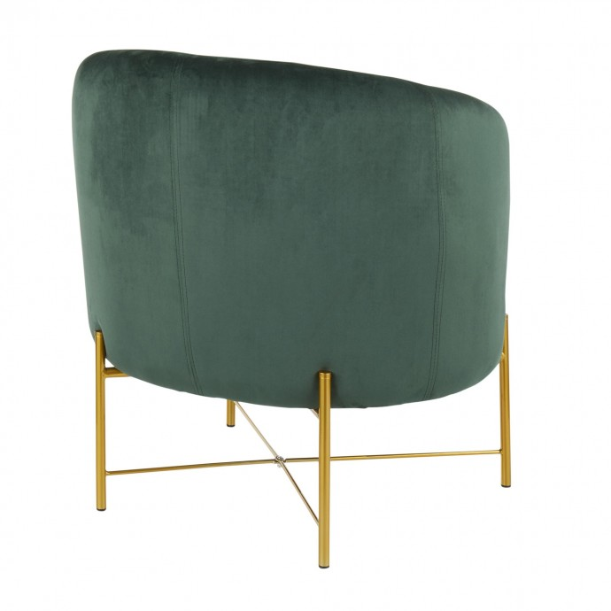Mid-Century Modern Adjustable Bar stool in Walnut and Charcoal Fabric Maya LumiSource - 1