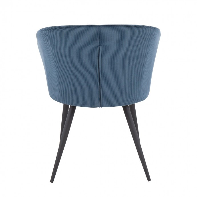 Set of 2 Industrial Counter Stool in Blue PU Outlaw