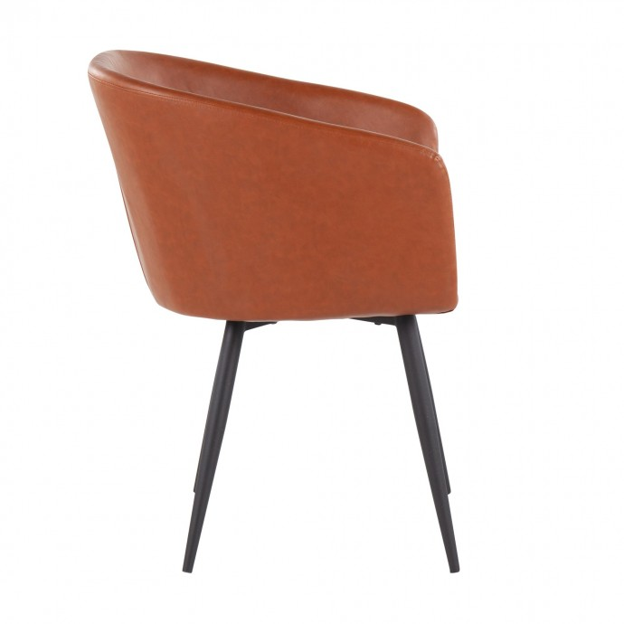 Mid-Century Modern Adjustable Bar stool in Walnut and Cream Pino LumiSource - 1