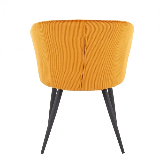 Set of 2 Mid-Century Modern Counter Stools in Walnut and Black Saddle LumiSource - 1