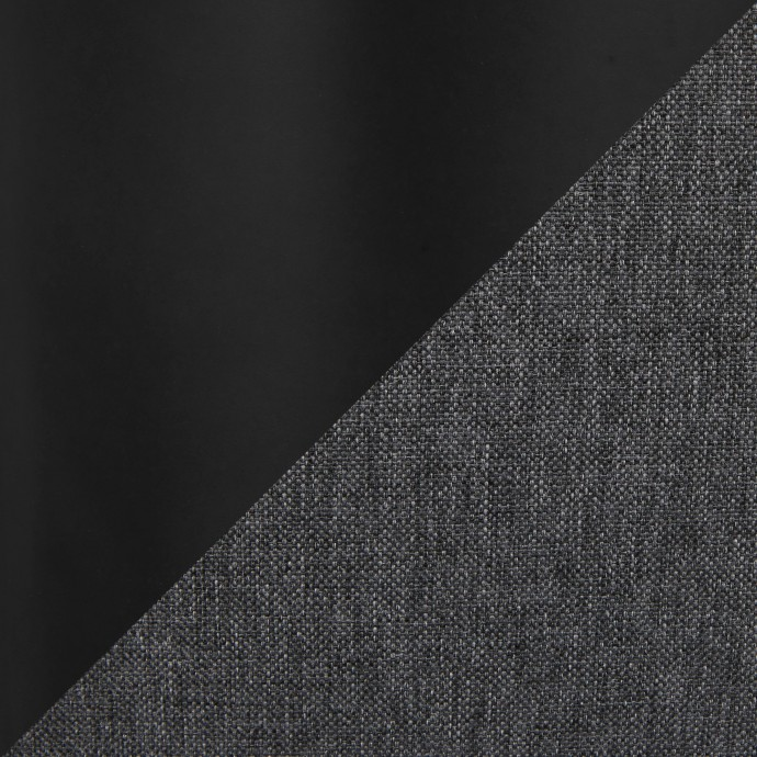 Mid-Century Modern Counter Stool in Walnut Wood and Cream PU Trilogy