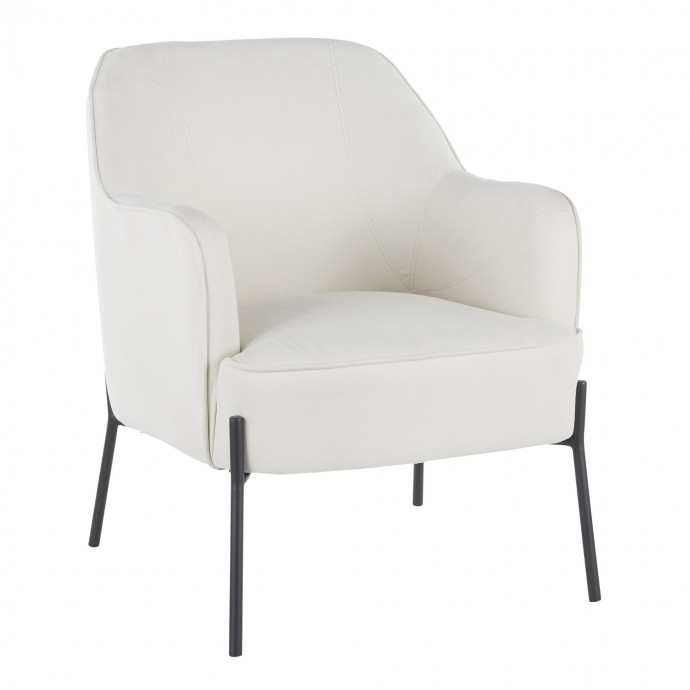 Set of 2 Mid-Century Modern Counter Stools in Walnut and Orange Trilogy LumiSource - 2