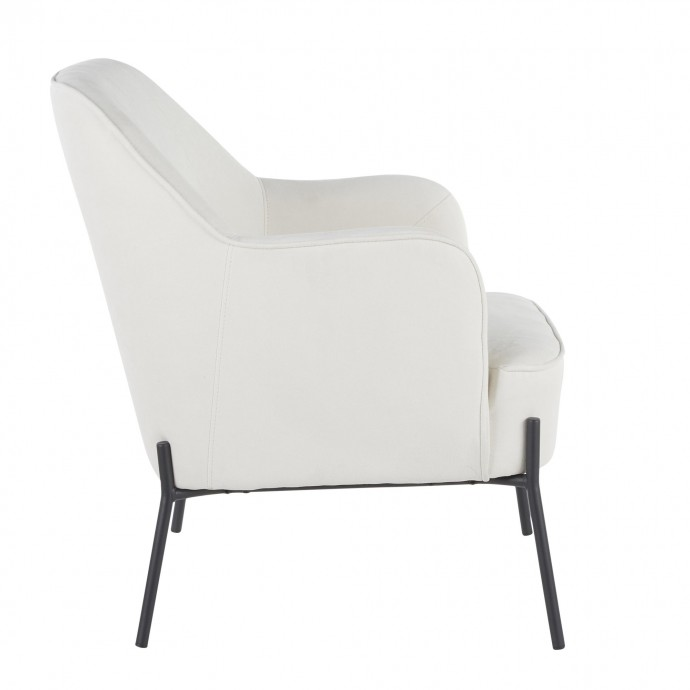 Mid-century Modern Adjustable Bar Stool in Walnut and Black Valencia LumiSource - 1