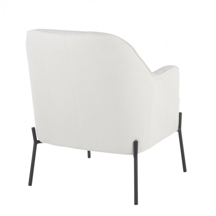 Mid-century Adjustable Modern Bar Stool Valencia Cream