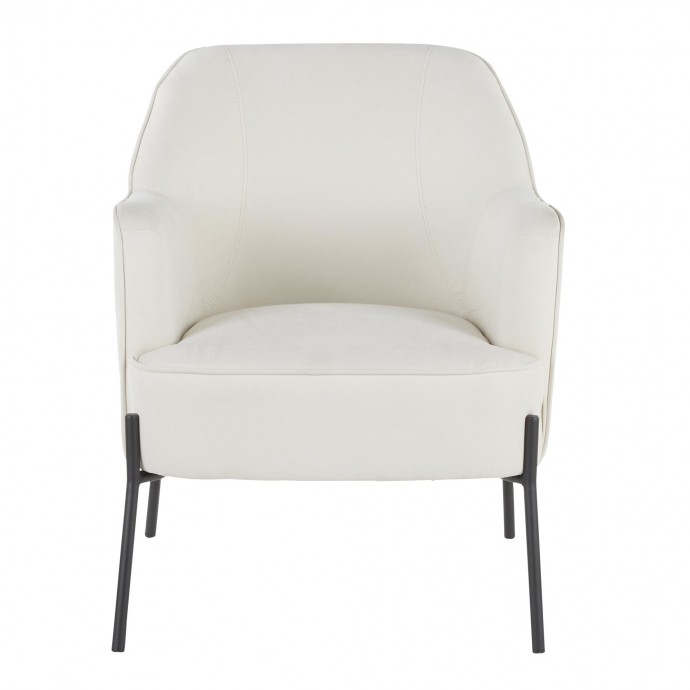 Modern Adjustable Bar stool in Walnut and Cream Vasari