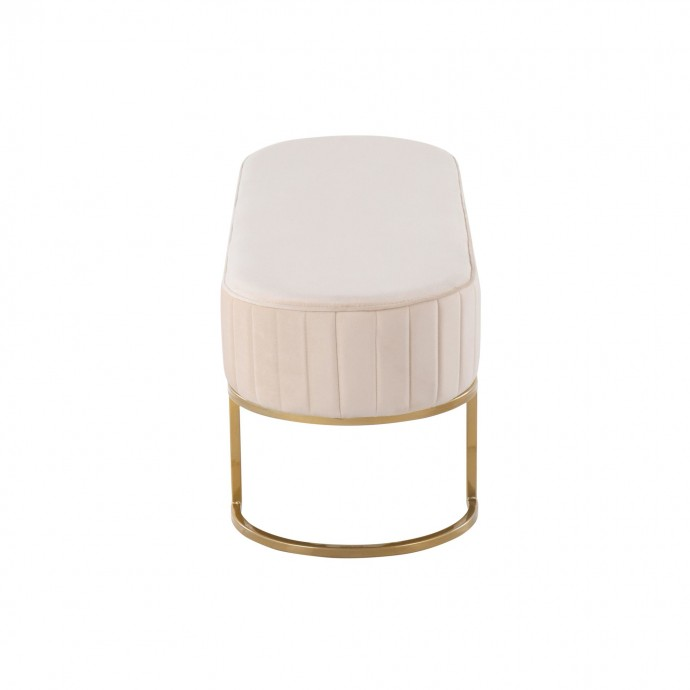 Adjustable Mid-century Modern Bar stool in Walnut and Cream Vintage LumiSource - 1