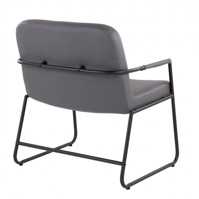 Height Adjustable Contemporary Bar Table in Brown Elia LumiSource - 1