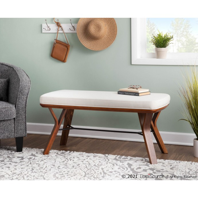 Contemporary Adjustable Bar Stool in Acrylic and Walnut Wood Arc