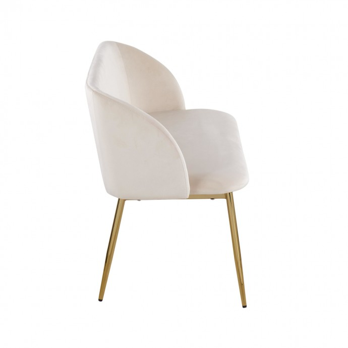 "26"" Mid-Century Modern Counter Stool in Walnut and Blue Fabric Ariana"
